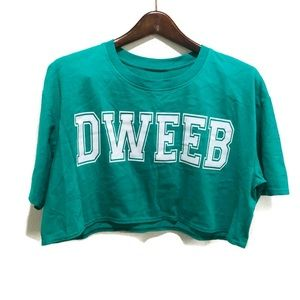 Topshop || Green Crop Top Casual Shirt